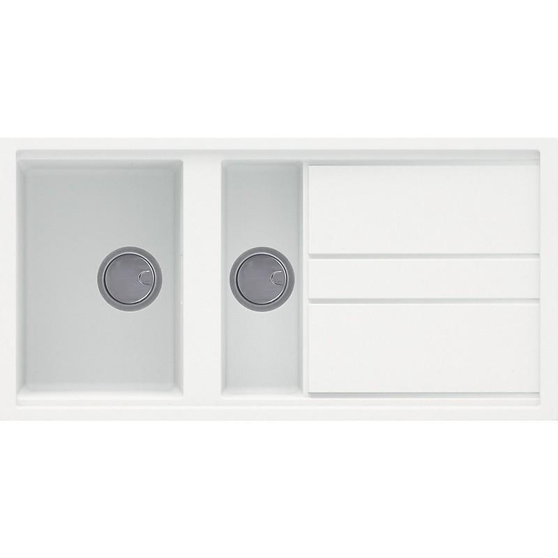 lgb47568 elleci lavello best 475 100x51 2 vasche bianco titano 68