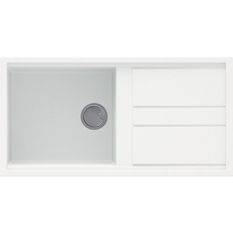lgb48068 elleci lavello best 480 100x51 1 vasca bianco titano 68