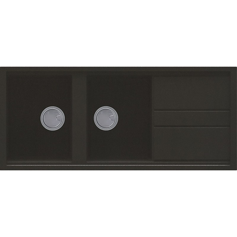 lgb50059 elleci lavello best 500 116x51 2 vasche antracite 59