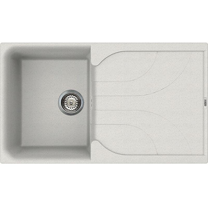 lge40052 elleci lavello ego 400 86x50 1 vasca bianco 52