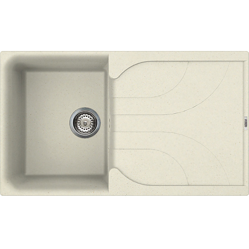 lge40062 elleci lavello ego 400 86x50 1 vasca bianco antico 62