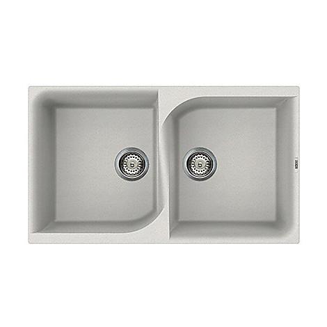 lge45052 elleci lavello ego 450 86x50 2 vasche bianco 52