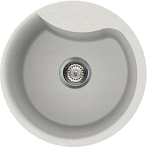 lgerou52 elleci lavello ego round 48.5 1 vasca bianco 52