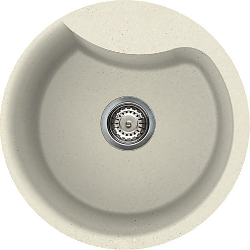 lgerou62 elleci lavello ego round 48.5 1 vasca bianco antico 62
