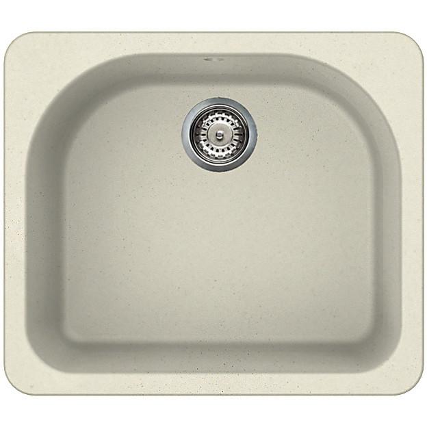lgf25062btp elleci lavello fox 250 60x52 1 vasca bianco antico 62 con troppo pieno