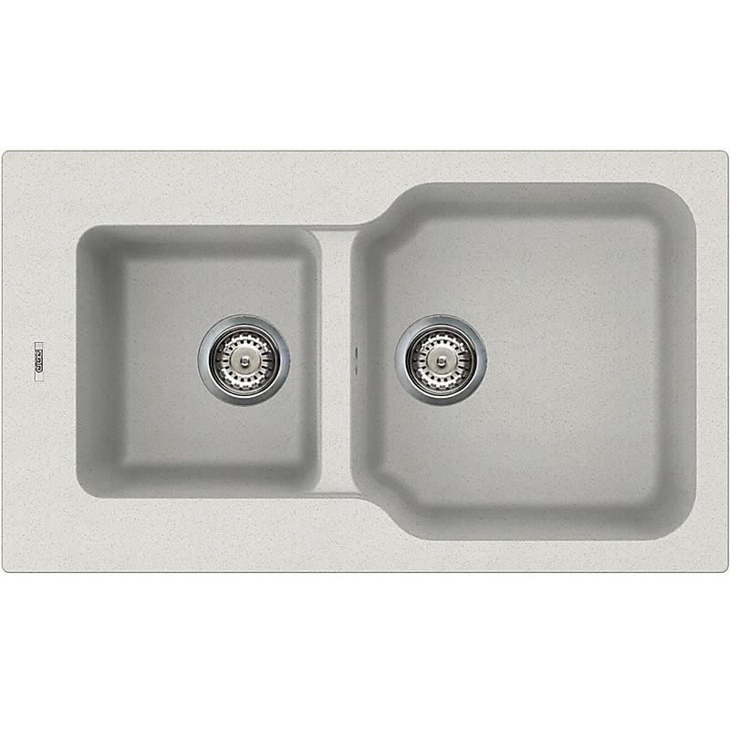 lgf43052 elleci lavello fox 430 86x50 2 vasche bianco 52