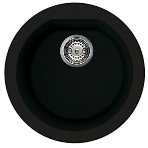 lgfrou40 elleci lavello round 44 1 vasca full black 40