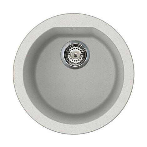 lgfrou52 elleci lavello round 44 1 vasca bianco 52