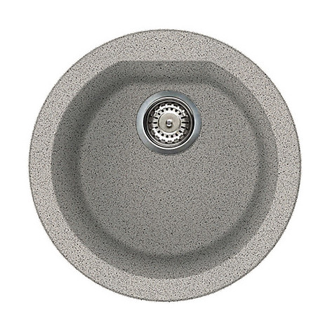 lgfrou55 elleci lavello round 44 1 vasca grigio 55