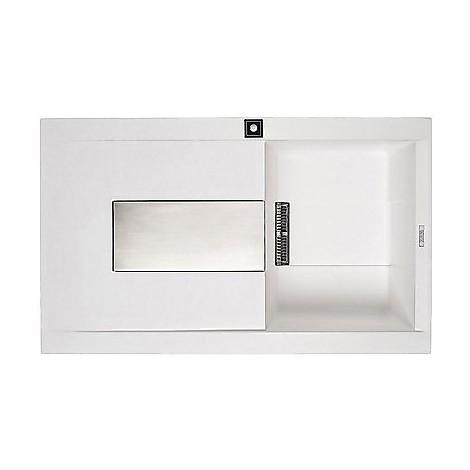 lgi40052dx elleci lavello sirex 400 86x51 1 vasca bianco 52 meccanico vasca dx
