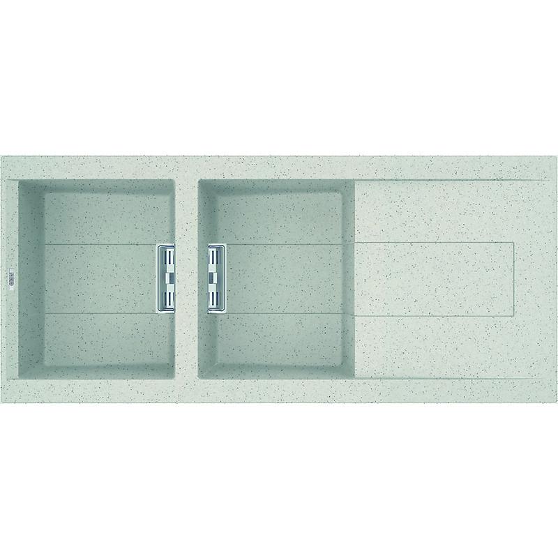 lgi50052smt elleci lavello smart 500 116x51,6 2 vasche bianco 52 meccanico