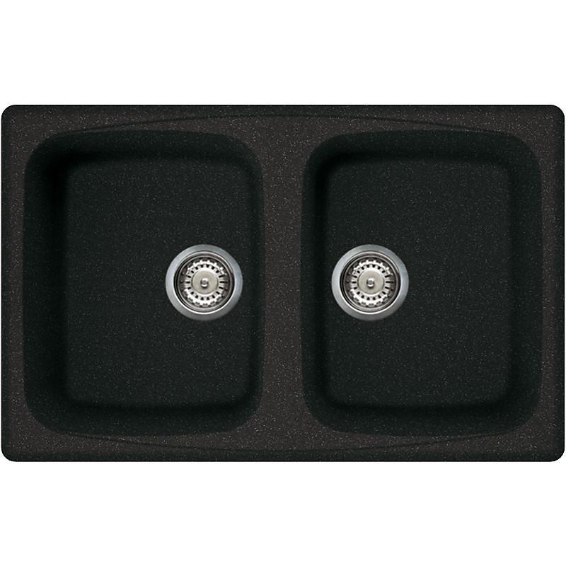 lgm35054 elleci lavello master 350 79x50 2 vasche nero 54