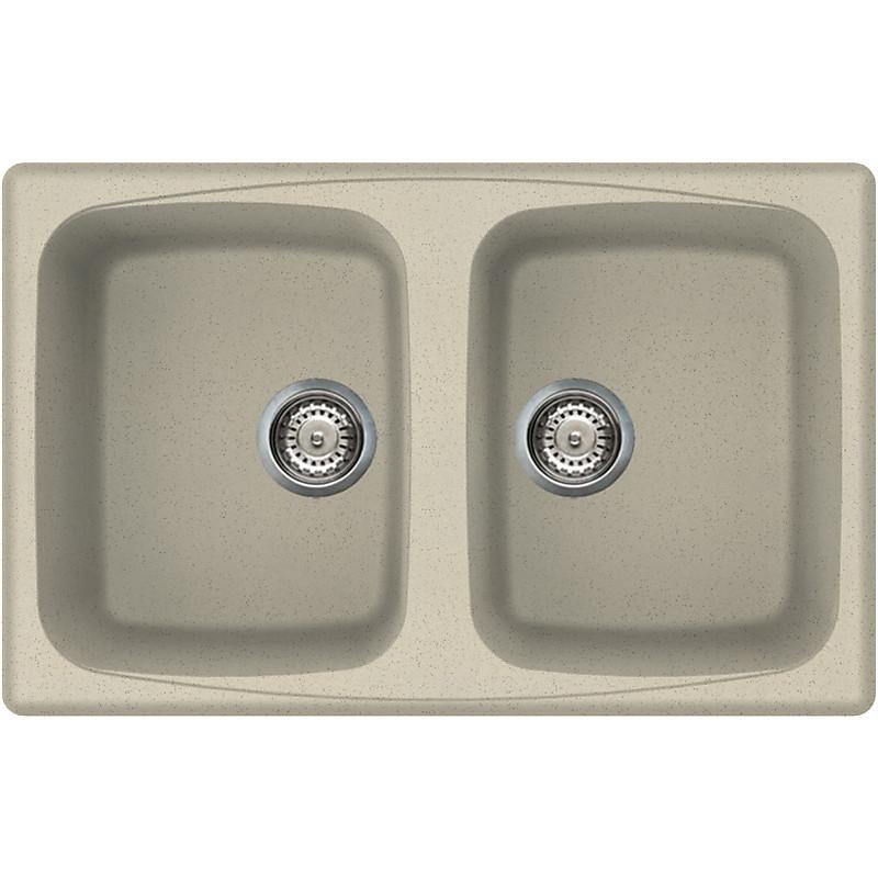 lgm35057 elleci lavello master 350 79x50 2 vasche pietra vecchia 57