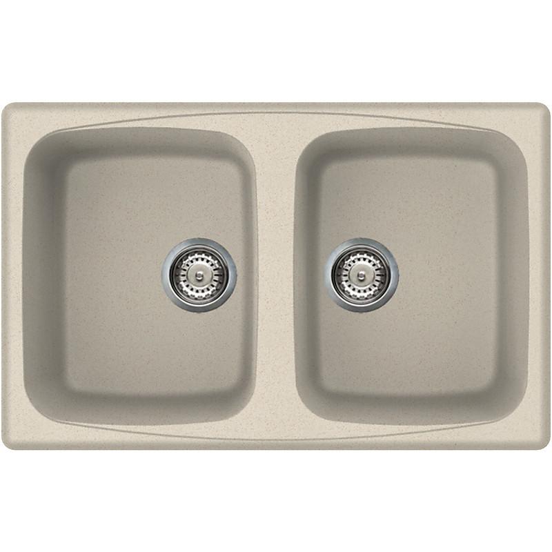 lgm35061 elleci lavello master 350 79x50 2 vasche pietra antica 61