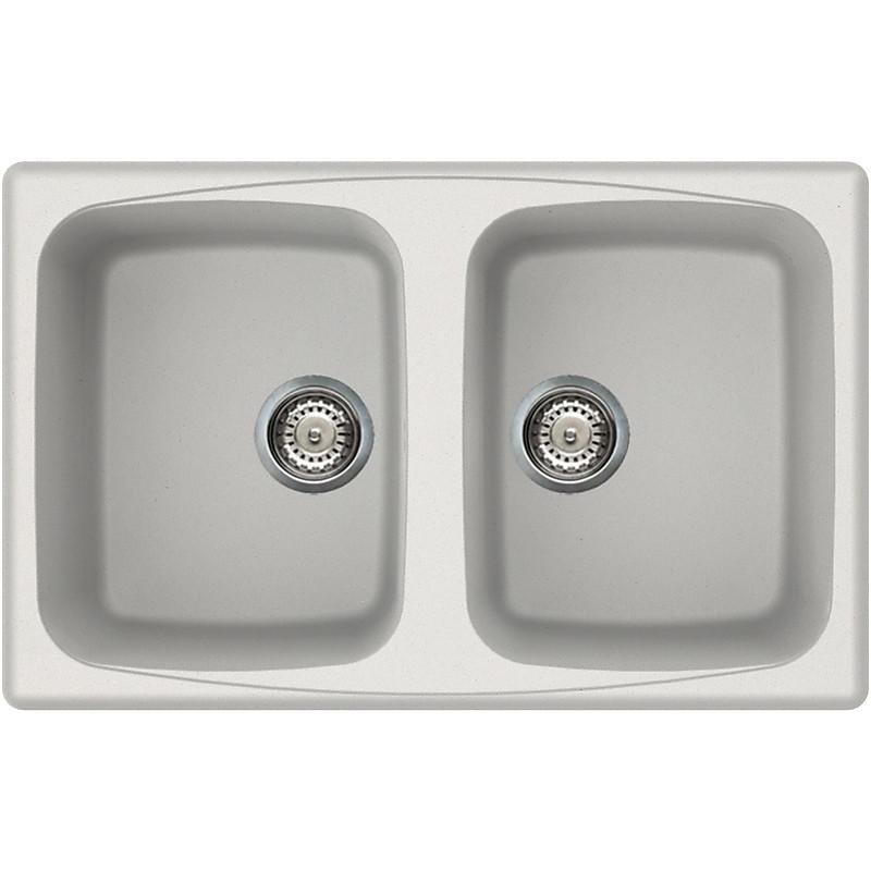 lgm35068 elleci lavello master 350 79x50 2 vasche bianco titano 68