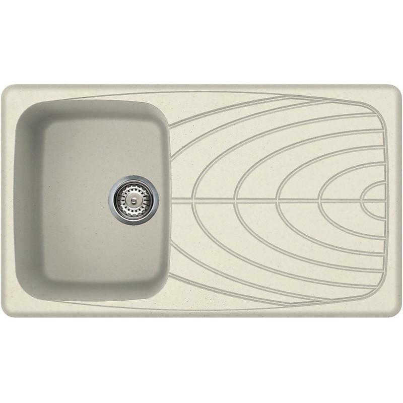 lgm40062 elleci lavello master 400 86x50 1 vasca bianco antico 62