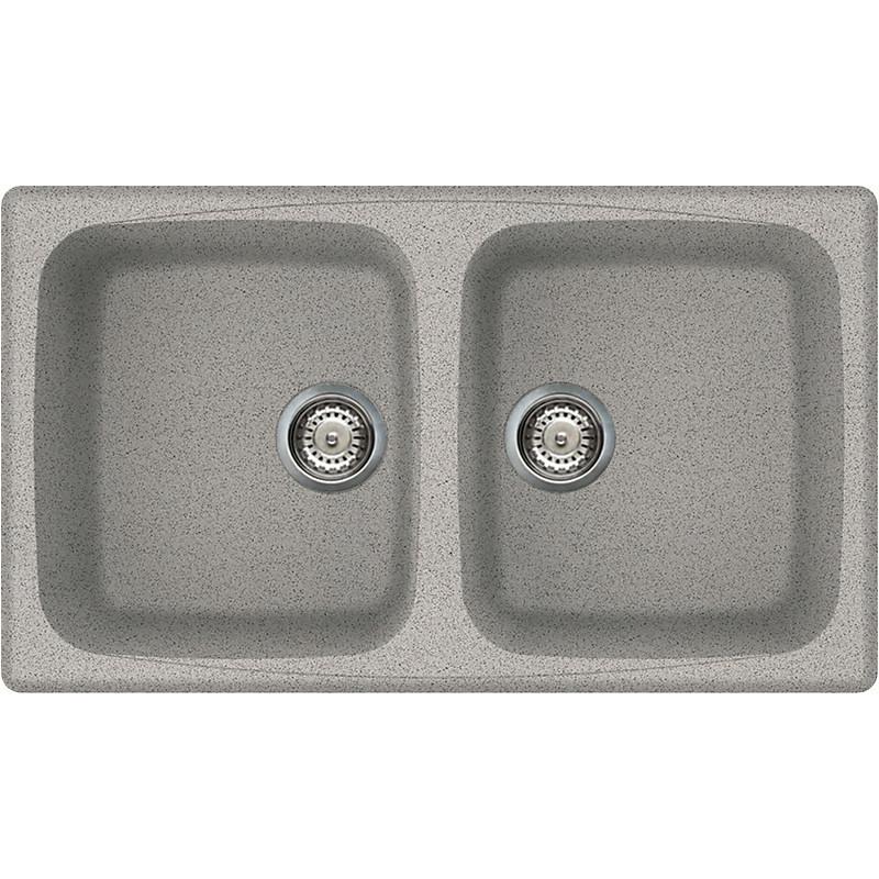 lgm45055 elleci lavello master 450 86x50 2 vasche grigio 55