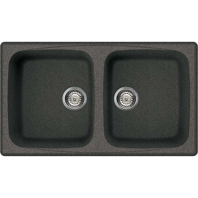 lgm45058 elleci lavello master 450 86x50 2 vasche grigio ambra 58