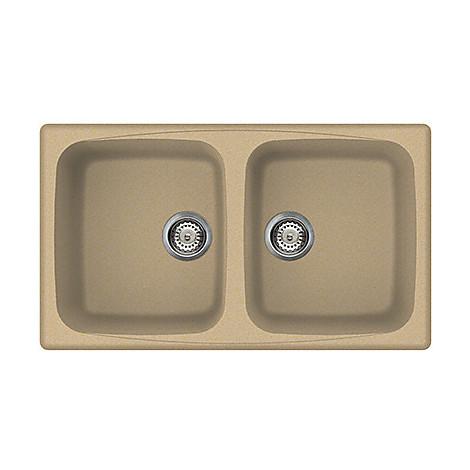 lgm45069 elleci lavello master 450 86x50 2 vasche vaniglia 69