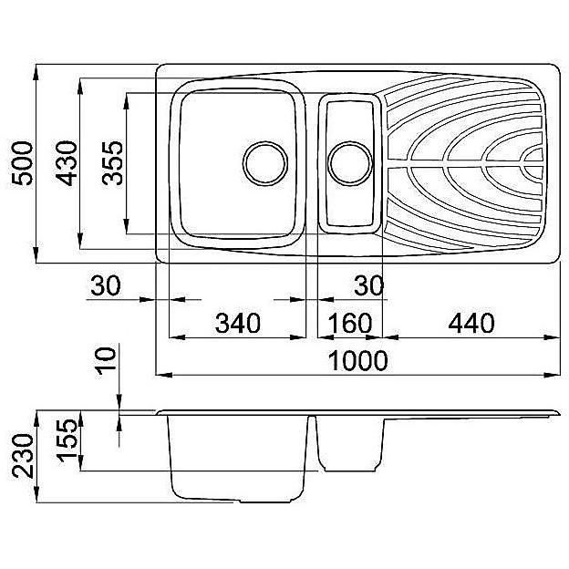 lgm47551 elleci lavello master 475 100x50 2 vasche avena 51