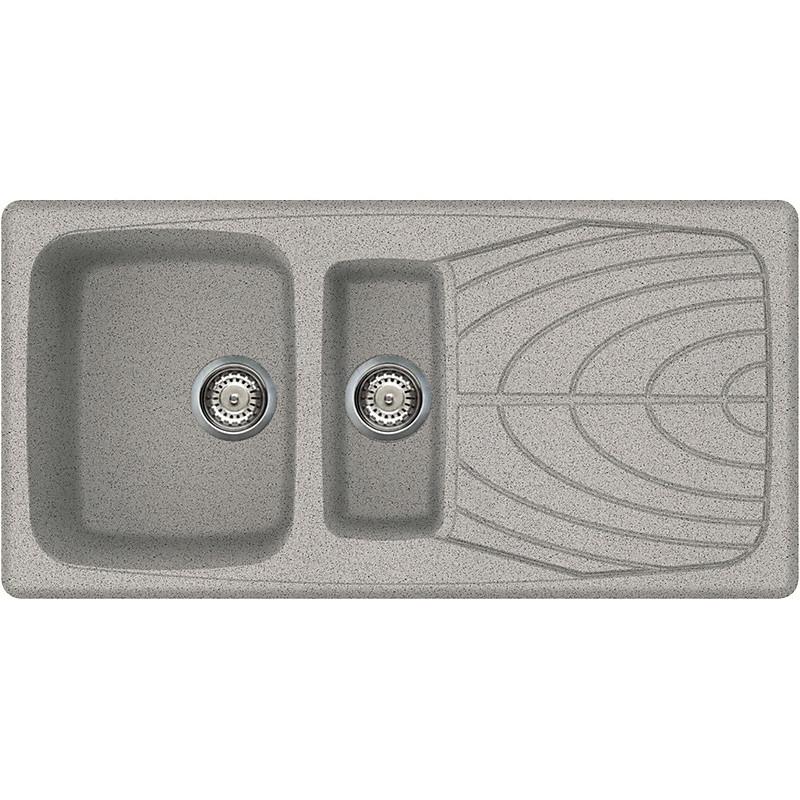 lgm47555 elleci lavello master 475 100x50 2 vasche grigio 55