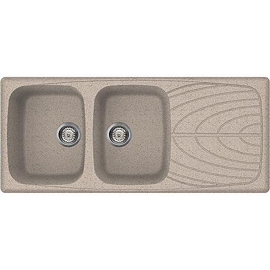 lgm50053 elleci lavello master 500 116x50 2 vasche terra 53
