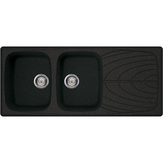 lgm50054 elleci lavello master 500 116x50 2 vasche nero 54