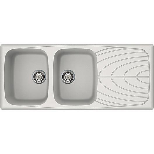 lgm50068 elleci lavello master 500 116x50 2 vasche bianco titano 68