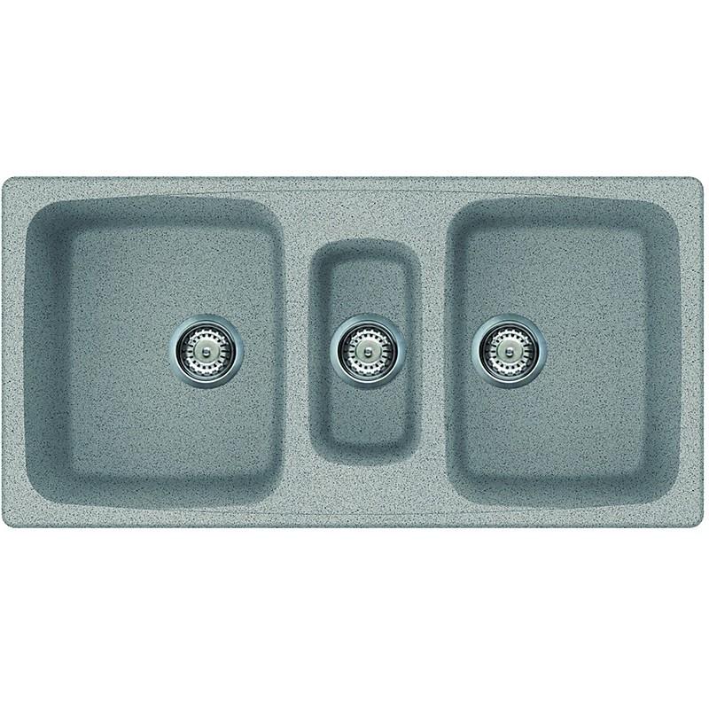 lgm55055 elleci lavello master 550 100x50 3 vasche grigio 55