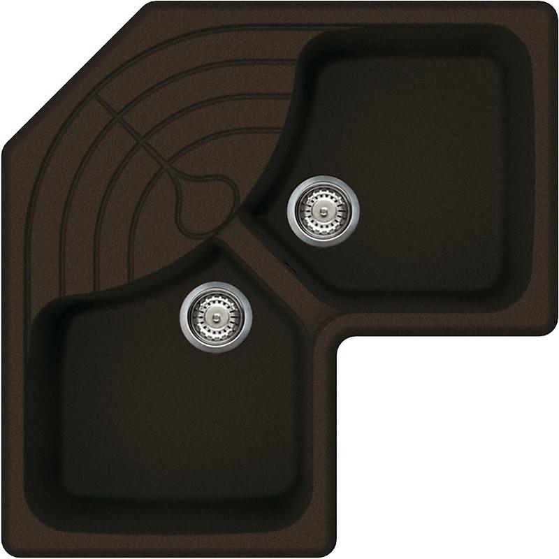 lgmcor41 elleci lavello master corner 83x83 2 vasche cacao 41
