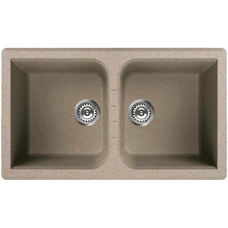 lgn45051 elleci lavello venice 450 86x51 2 vasche avena 51