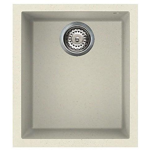lgq10062bso elleci lavello quadra 100 38x44 1 vasca bianco antico 62 sotto top