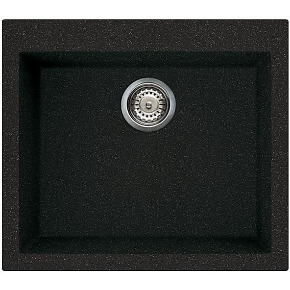 lgq10554 elleci lavello quadra 105 57x50 1 vasca nero 54