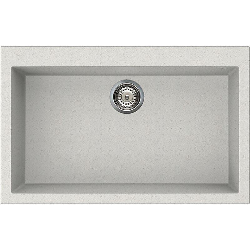 lgq13052 elleci lavello quadra 130 79x50 1 vasca bianco 52