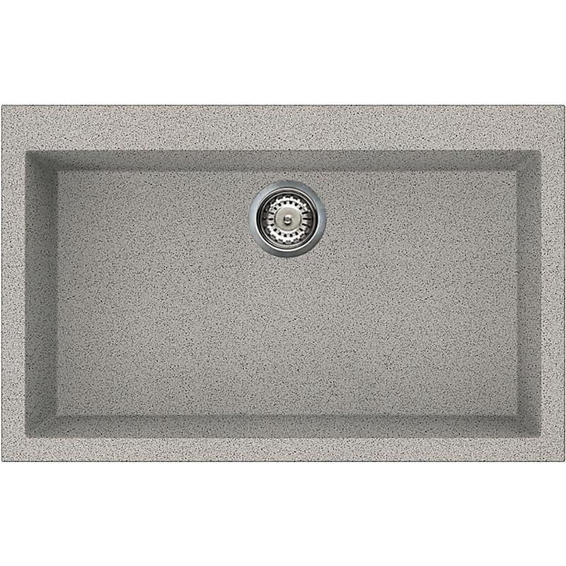lgq13055 elleci lavello quadra 130 79x50 1 vasca grigio 55