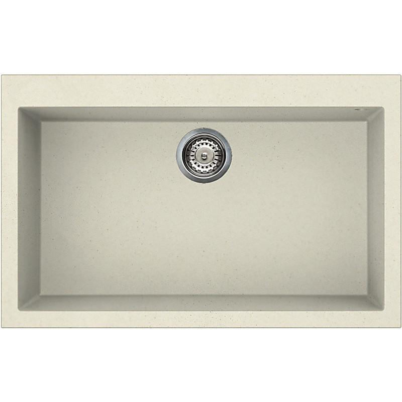 lgq13062 elleci lavello quadra 130 79x50 1 vasca bianco antico 62