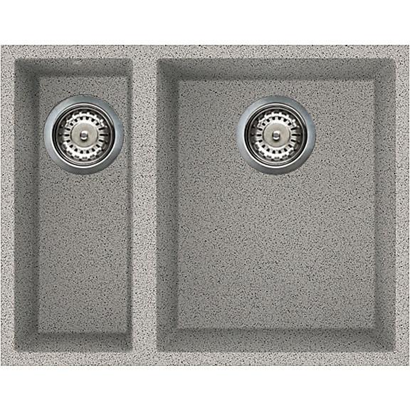 lgq15055bso elleci lavello quadra 150 59x50 2 vasche grigio 55 sotto top