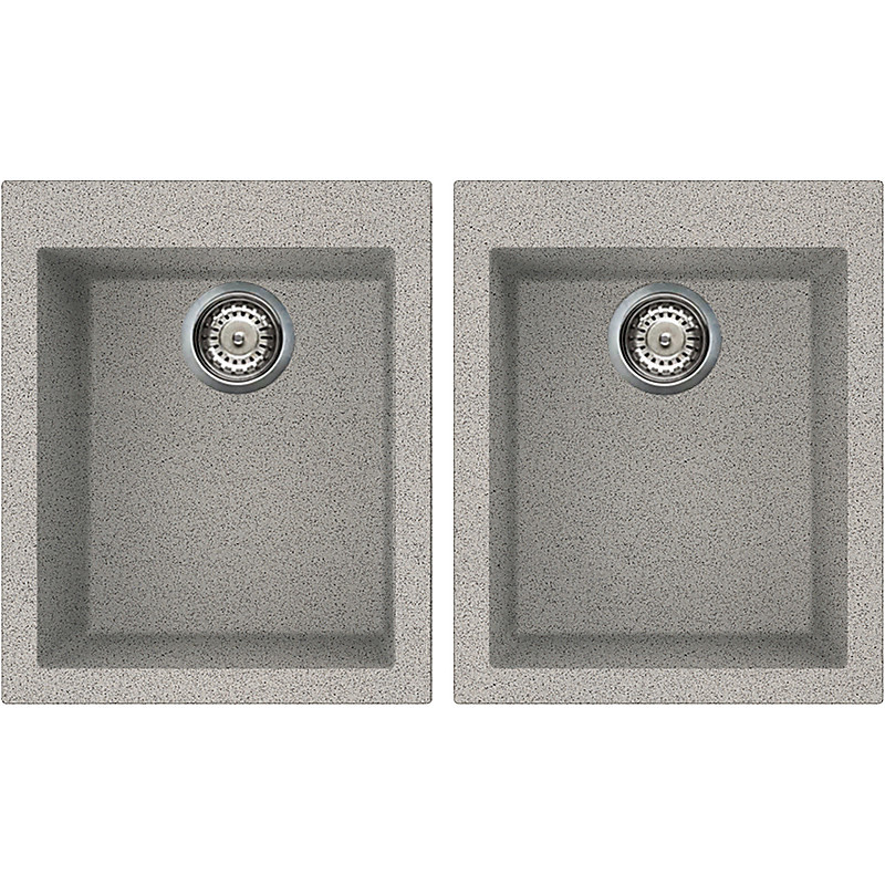lgq20055 elleci lavello quadra 200 2 vasche grigio 55