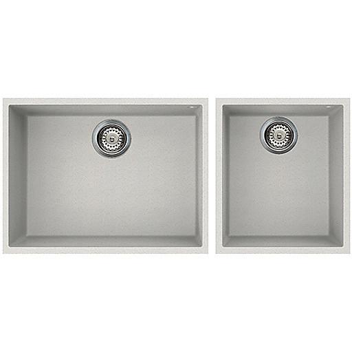 lgq21052bso elleci lavello quadra 210 2 vasche bianco 52 sotto top