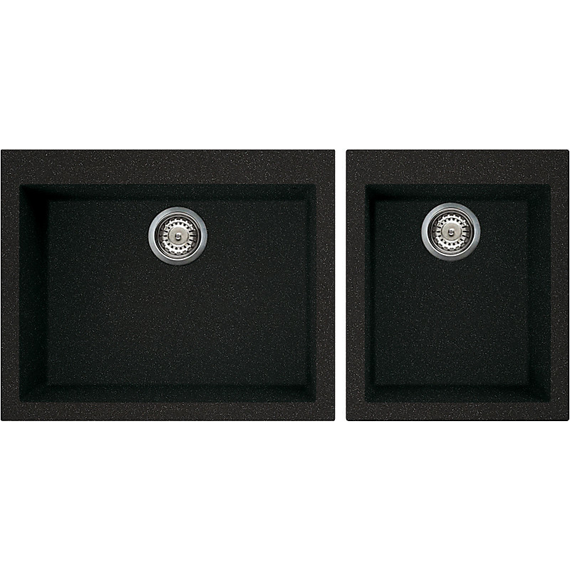 lgq21054 elleci lavello quadra 210 2 vasche nero 54