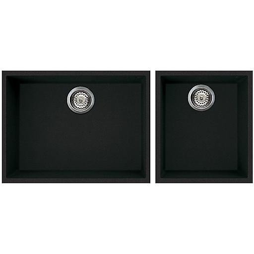 lgq21059bso elleci lavello quadra 210 2 vasche antracite 59 sotto top