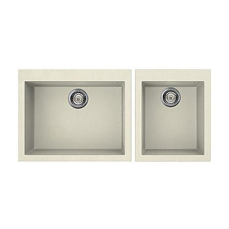 lgq21062 elleci lavello quadra 210 2 vasche bianco antico 62