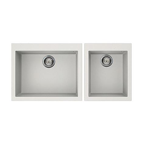 lgq21068 elleci lavello quadra 210 2 vasche bianco titano 68