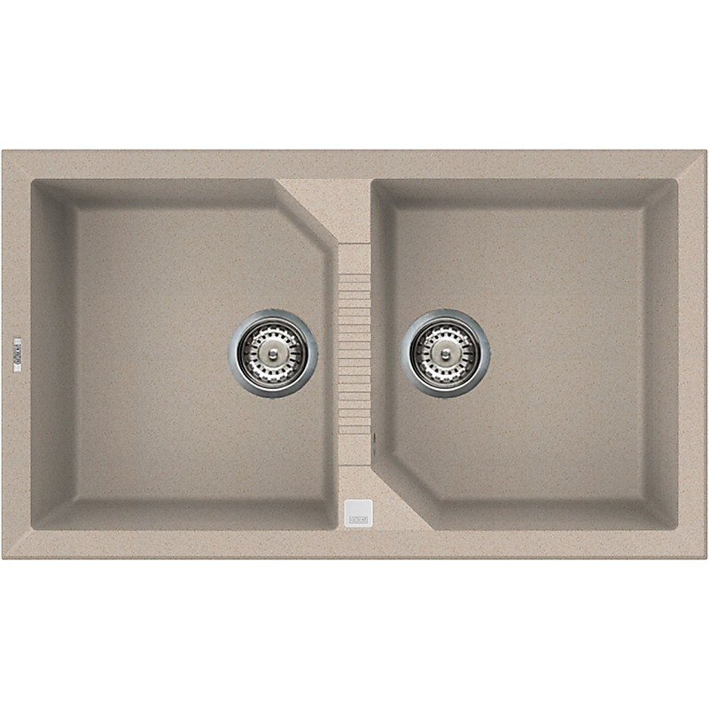 lgt45051 elleci lavello tekno 450 86x50 2 vasche avena 51