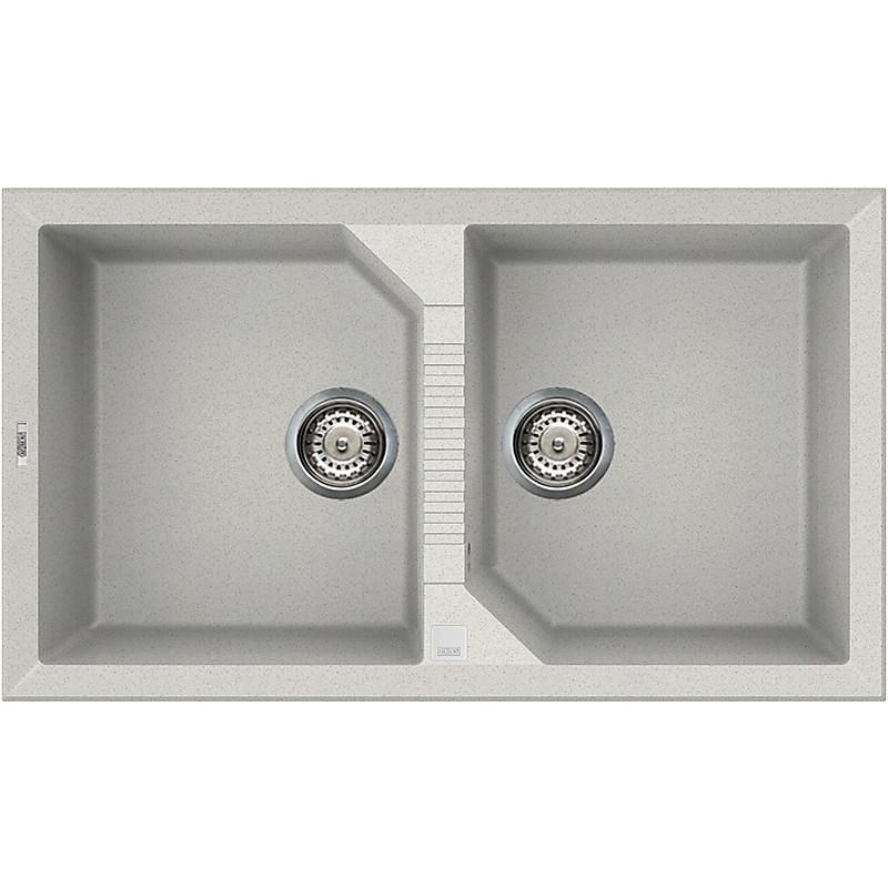 lgt45052 elleci lavello tekno 450 86x50 2 vasche bianco 52