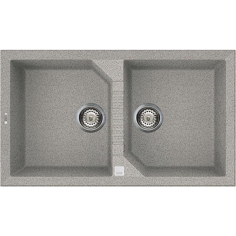 lgt45055 elleci lavello tekno 450 86x50 2 vasche grigio 55