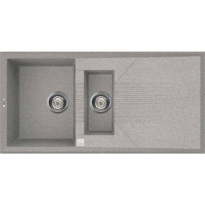 lgt47555 elleci lavello tekno 475 100x50 2 vasche grigio 55