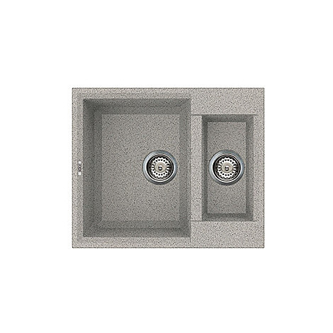 lgy15055 elleci lavello easy 150 60x50 2 vasche grigio 55