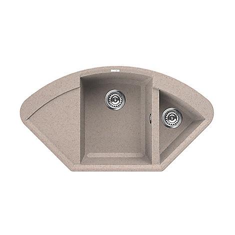 lgycor51 elleci lavello easy corner 105.7x57.5 2 vasche avena 51