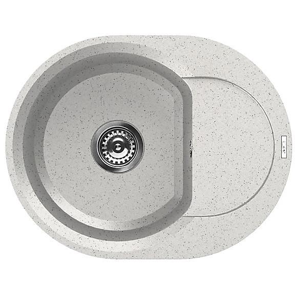 lgyr6052 elleci lavello easy round 600 60x47 1 vasca bianco 52